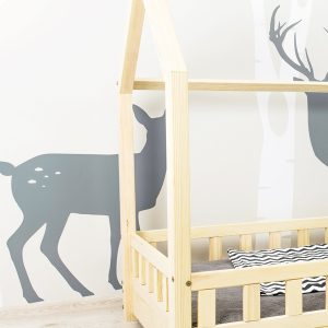łóżko dziecięce domek z barierką