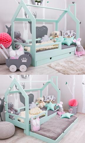 Hausbett Kinderbett mit Schublade