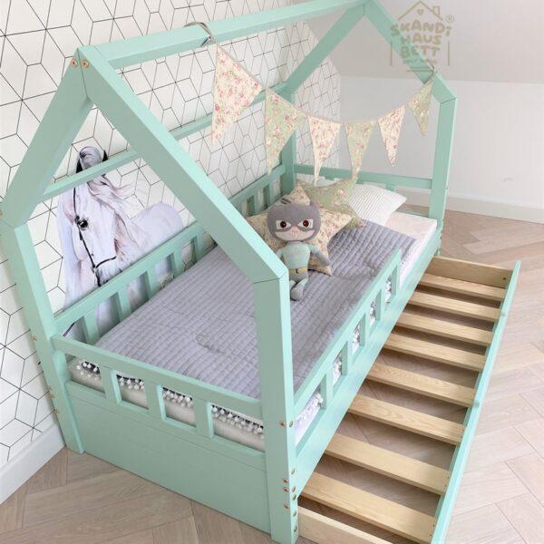 Hausbett Schublade 90x200 Farbe