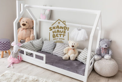 Kinder HausBett im skandinavischen Stil