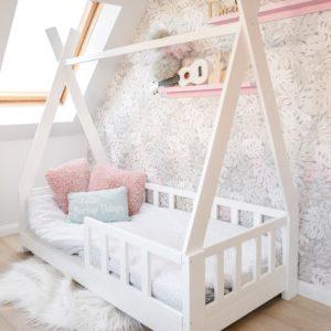 TIPI Bett Hausbett für Kinder MOON Sicherheitbarriere